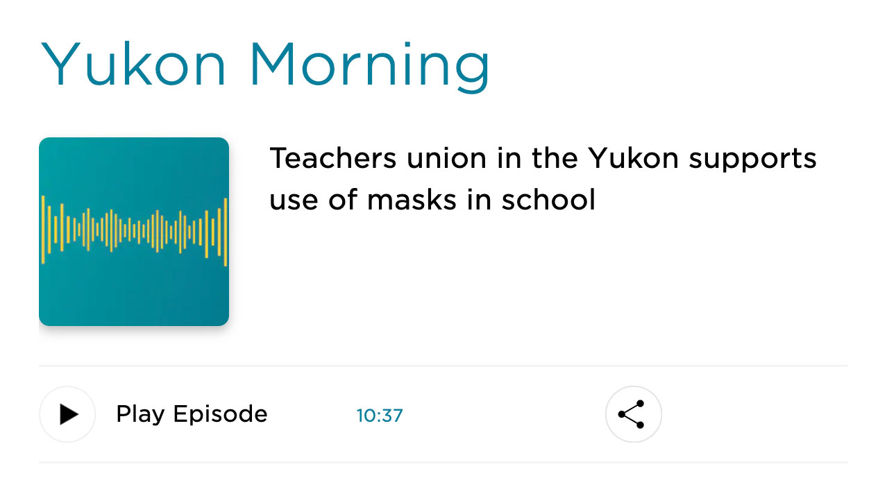 masks in school radio banner